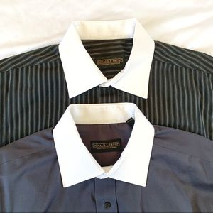TWO Donald J Trump French Cuff Dress Shirt 16.5-34